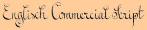 Schriftprobe mit Eisengallustinte