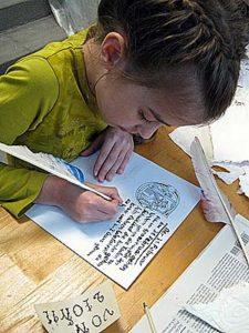 Früh übt sich, was ein Meister der Schriftkunst werden will!