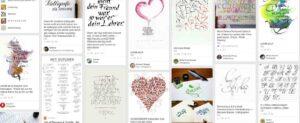 Kalligraphie-Bilder bei Pinterest