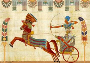Ägyptischer Kriegswagen auf Papyrus
