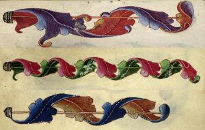 Banner aus dem Göttinger Musterbuch